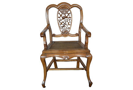 Antique Chinese Hand-Carved Chair