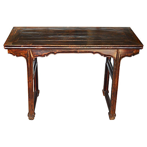 Antique Chinese Hand-Carved Wine Table