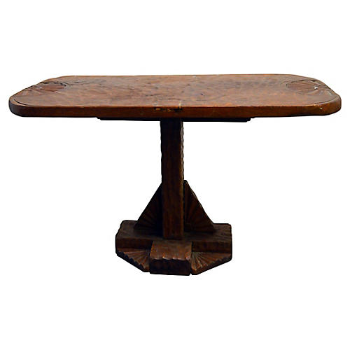 Antique Carved Indonesian Coffee Table
