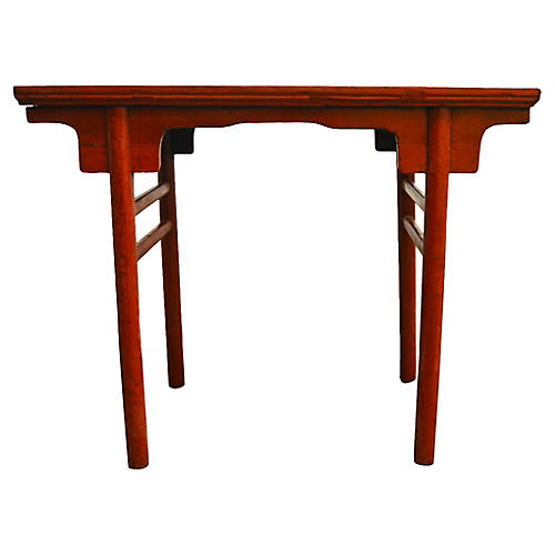 Antique Red Lacquered Table