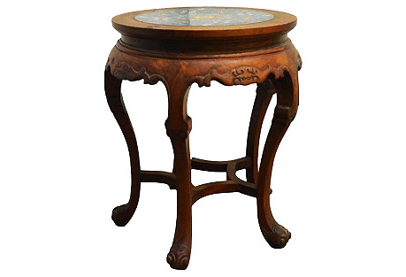Antique Indonesian Marble-Top Table