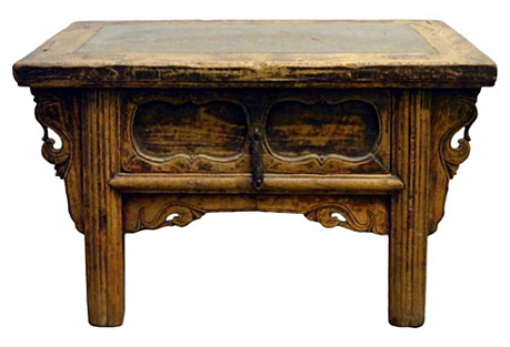Antique Table w/ Ming Inset Stone