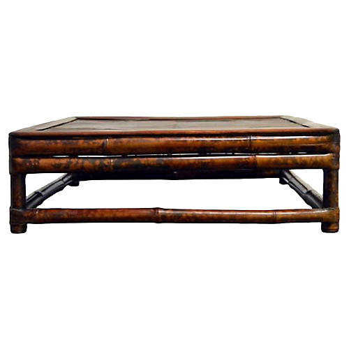 Antique Low Kang Bamboo Table