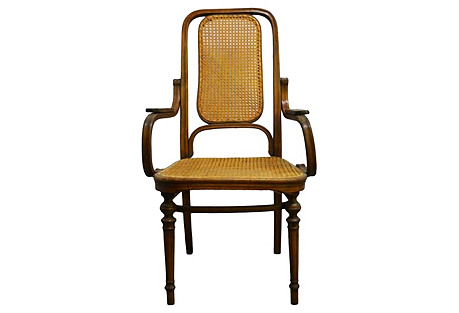 Indonesian Rattan Colonial Chair