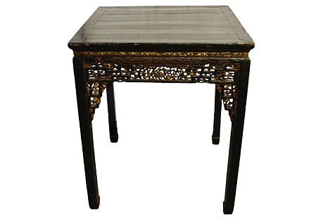 Antique Chinese Hand-Carved Table