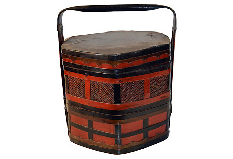 Chinese Bamboo Lunch Basket