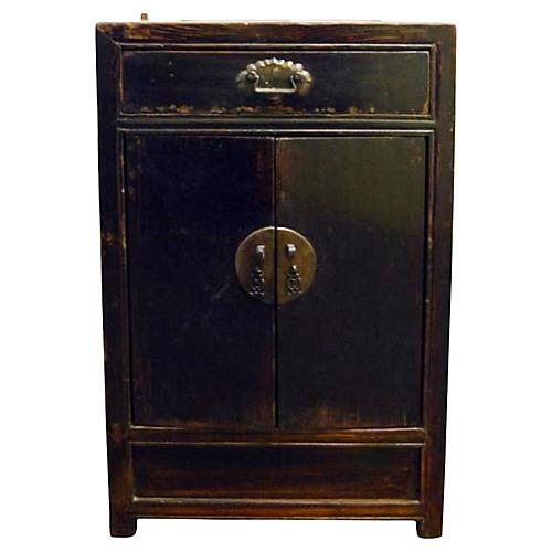 Antique Carved Side Cabinet