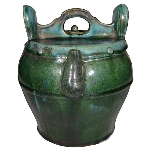 Shiwan Green Glaze Teapot