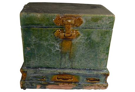 Antique Terracotta Ming Glazed Trunk