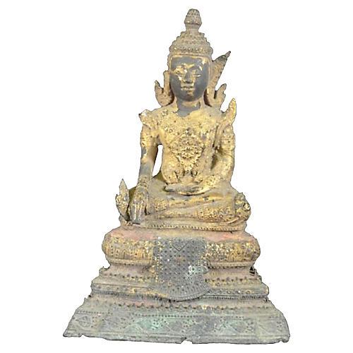 Rattanakosin Period Bronze Buddha Statue