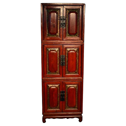 Antique Stacking Cabinets, S/3