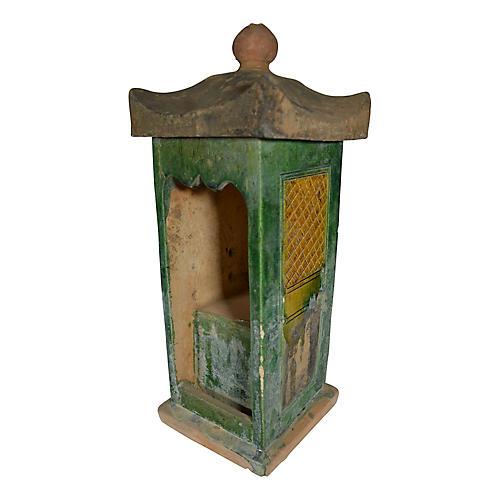 Antique Terracotta Ming Shrine