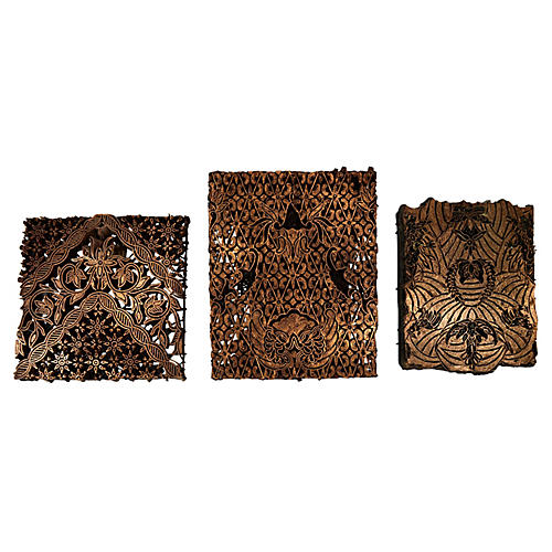 Batik Collectible Stamp Blocks, S/3