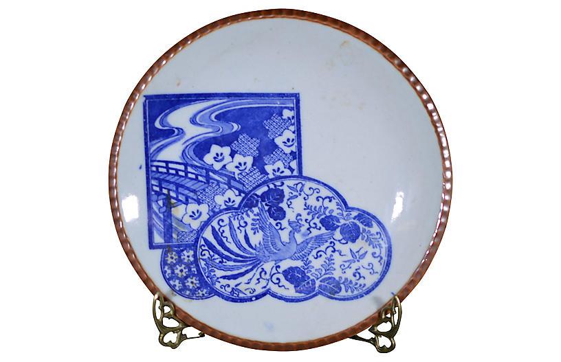 Antique Igezara Transferware Plate