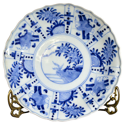 Antique Hand Painted Imari Plate