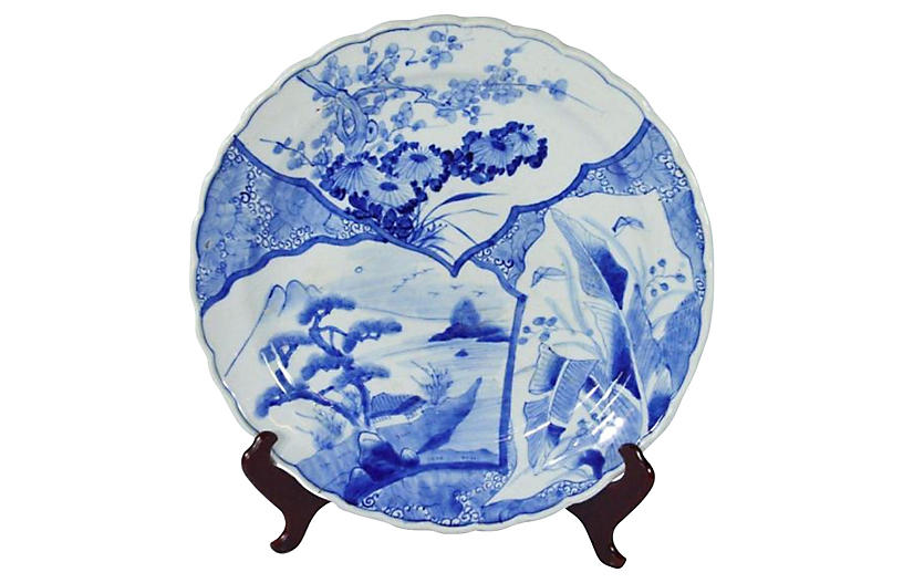 Antique Hand-Painted Imari Plate