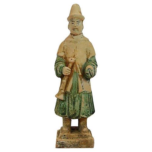 Ming Dynasty Terracotta Court Figure