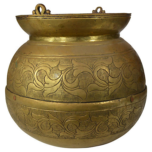Antique Indian Ceremonial Brass Bowl