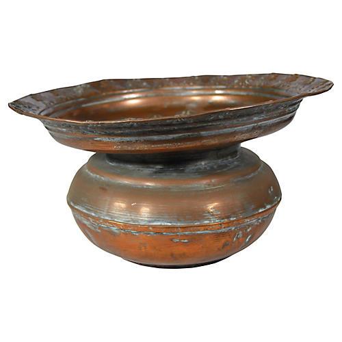 Antique Indian Copper Bowl