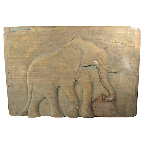Hand Carved Indian Panel