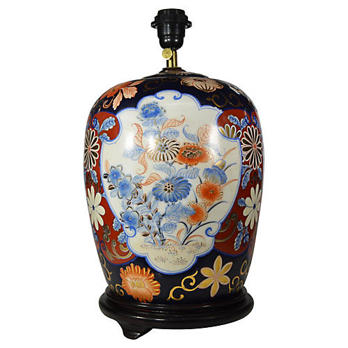 Hand Painted Chinese Electric Lamp