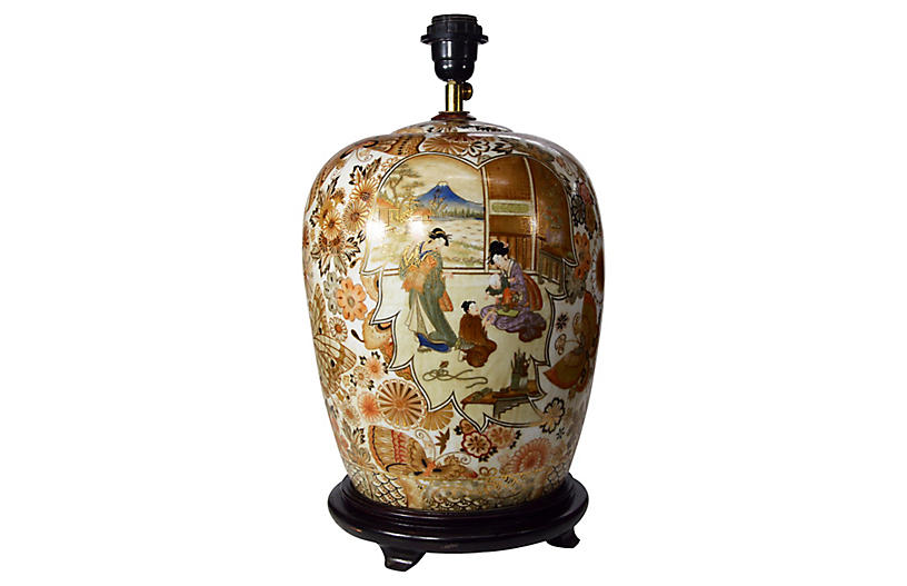 Japanese Kutani Lamp
