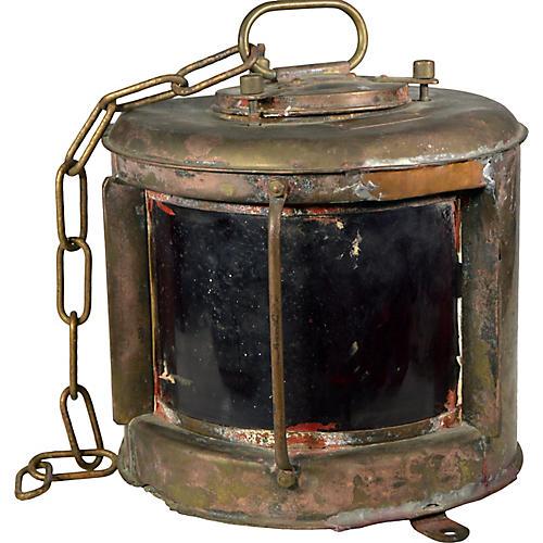 Nippon Sento Japanese Brass Lamp