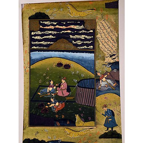Antique Indian Pigment Painting