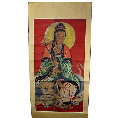 Antique Indian Scroll Painting