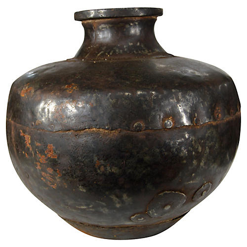 Antique Hand-Hammered Urn
