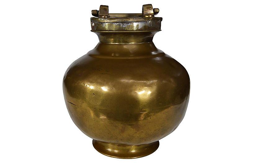 Indian Brass Milk Jar