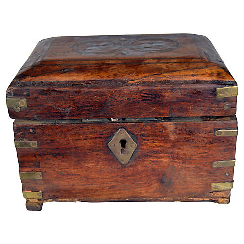 Antique Perfume Box w/ Bottles