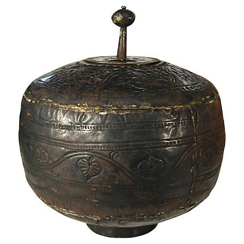 Antique Hand-Hammered Urn