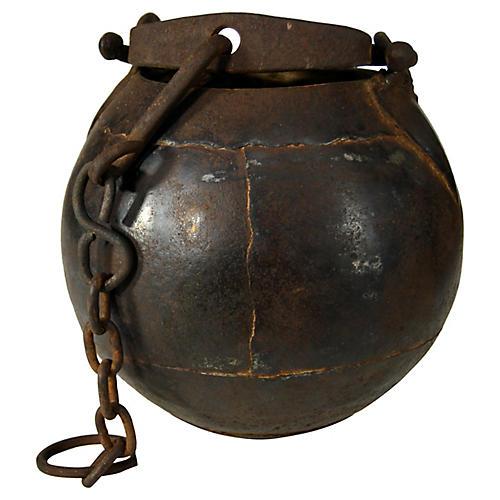 Indian Iron Bucket