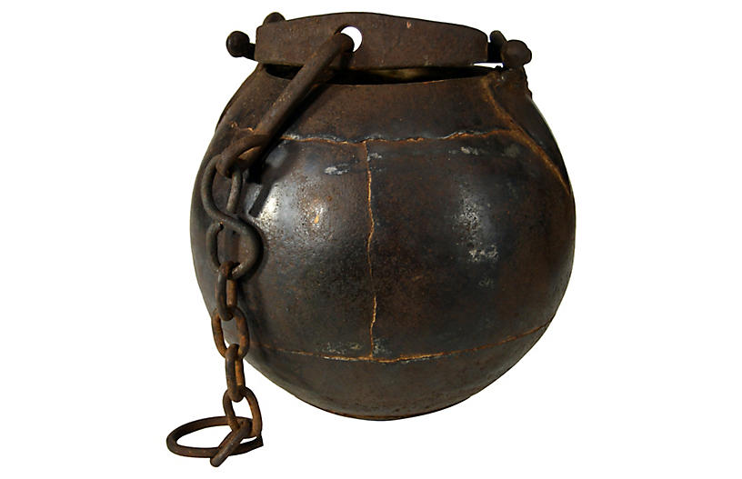 Indian Iron Bucket