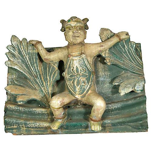 Antique Temple Terracotta Roof Tile