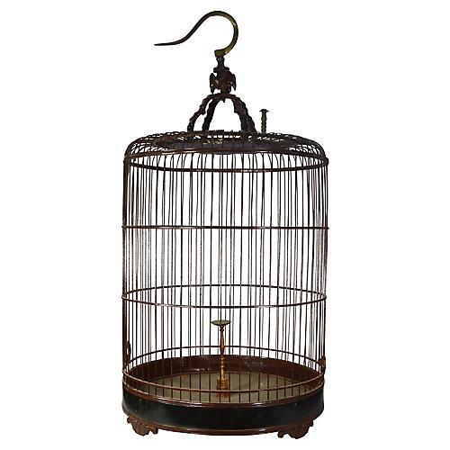 Antique Large Birdcage