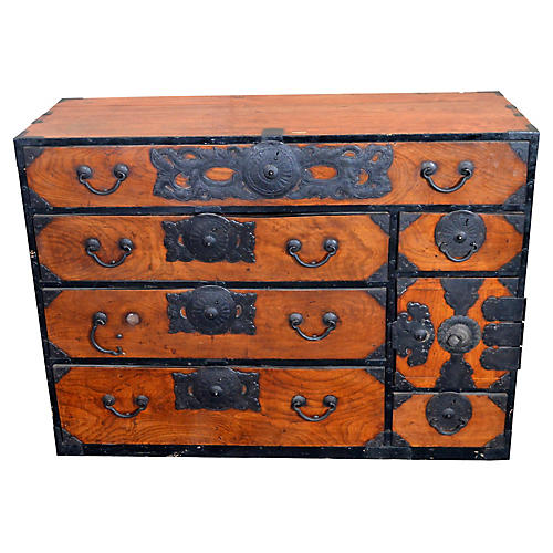 Antique Japanese Merchant's Dresser