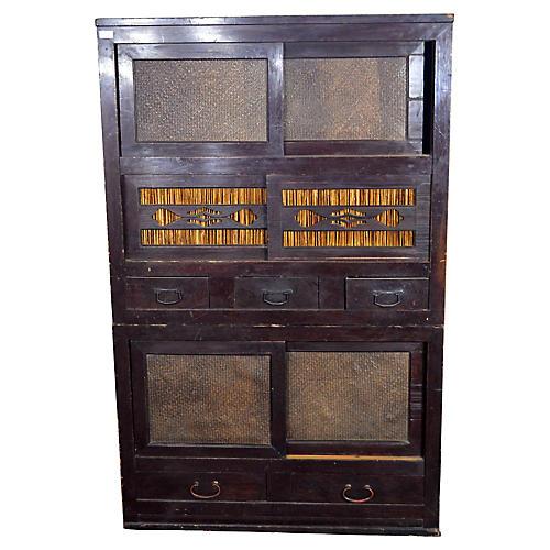 Japanese Tansu Display Cabinet