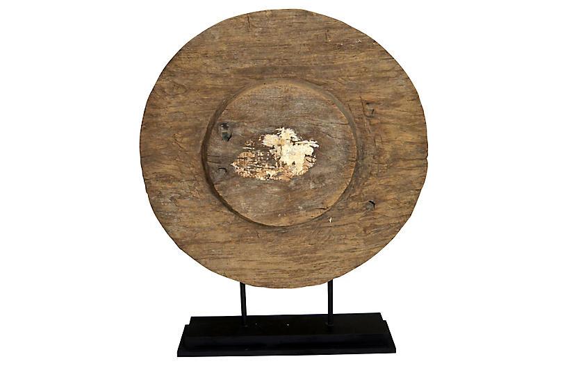 Antique Thai Ox Cart Wooden Wheel