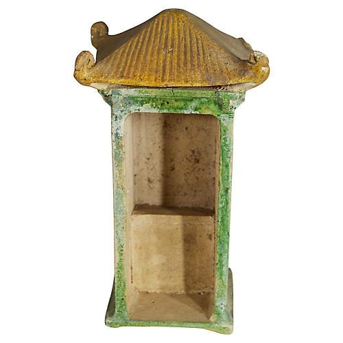 Antique Chinese Terracotta Shrine