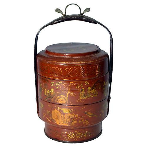 Chinese Hand-Painted Wedding Basket