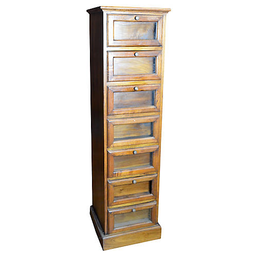 Antique 6-Drawer Apothecary Cabinet
