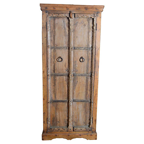 Antique Indonesian Carved Wood Armoire