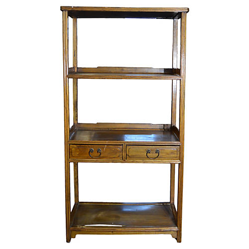 Chinese Wood Bookcase