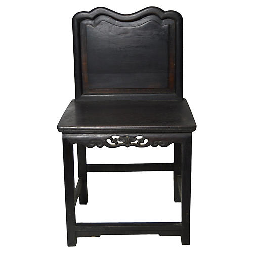 Antique Hand-Carved Chinese Chair