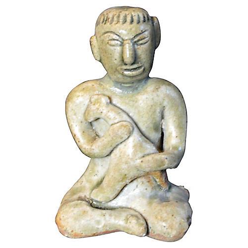 Antique Miniature Terracotta Statue