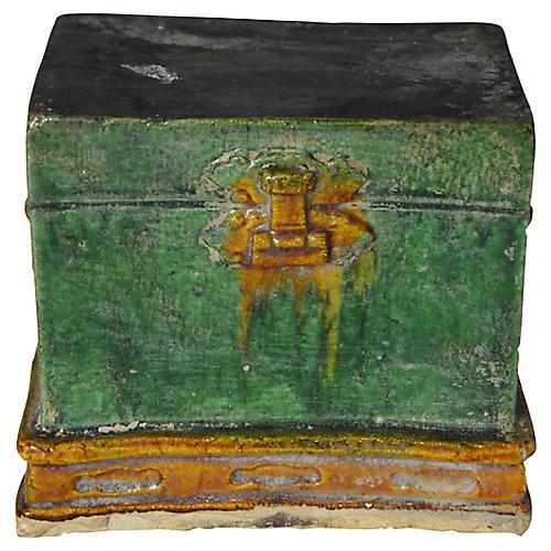 Antique Terracotta Treasure Chest