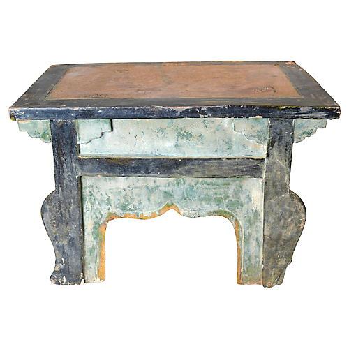 Antique Ming Terracotta Miniature Bench