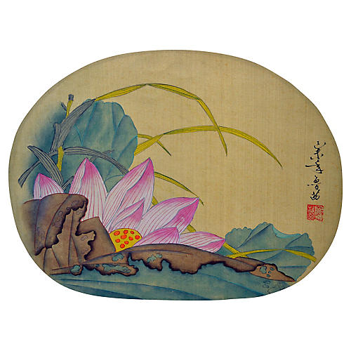 Japanese Painting on Silk Paper